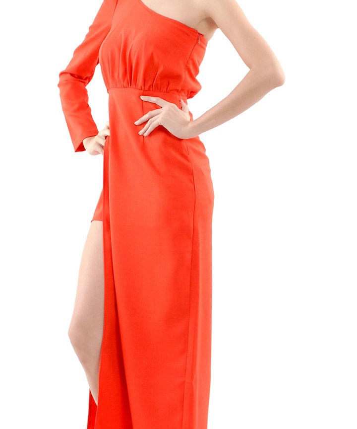 Yves Slit Toga Maxi Dress