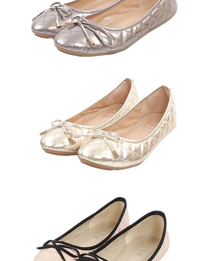 Taffeta Ballerina Flats