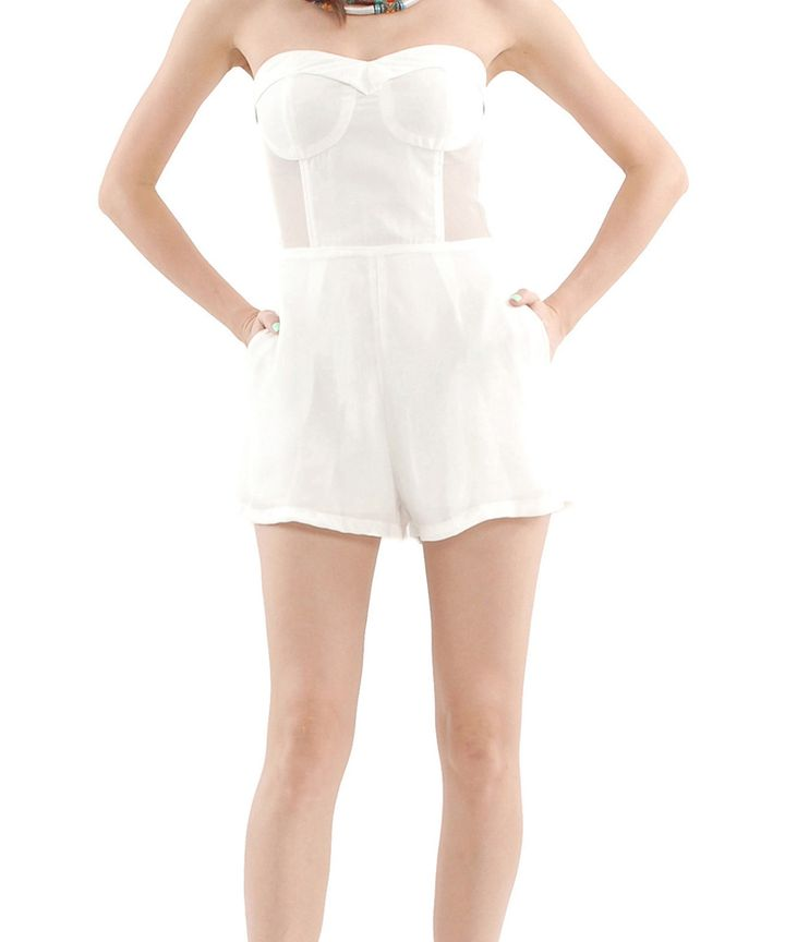 Azotic Mesh Playsuit