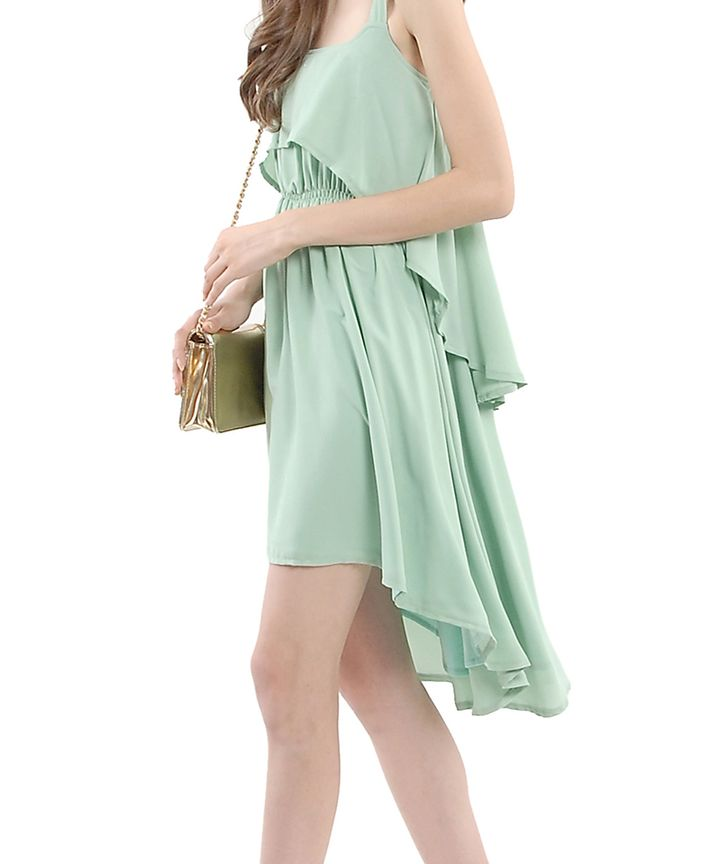 Cassis Cascade Dress