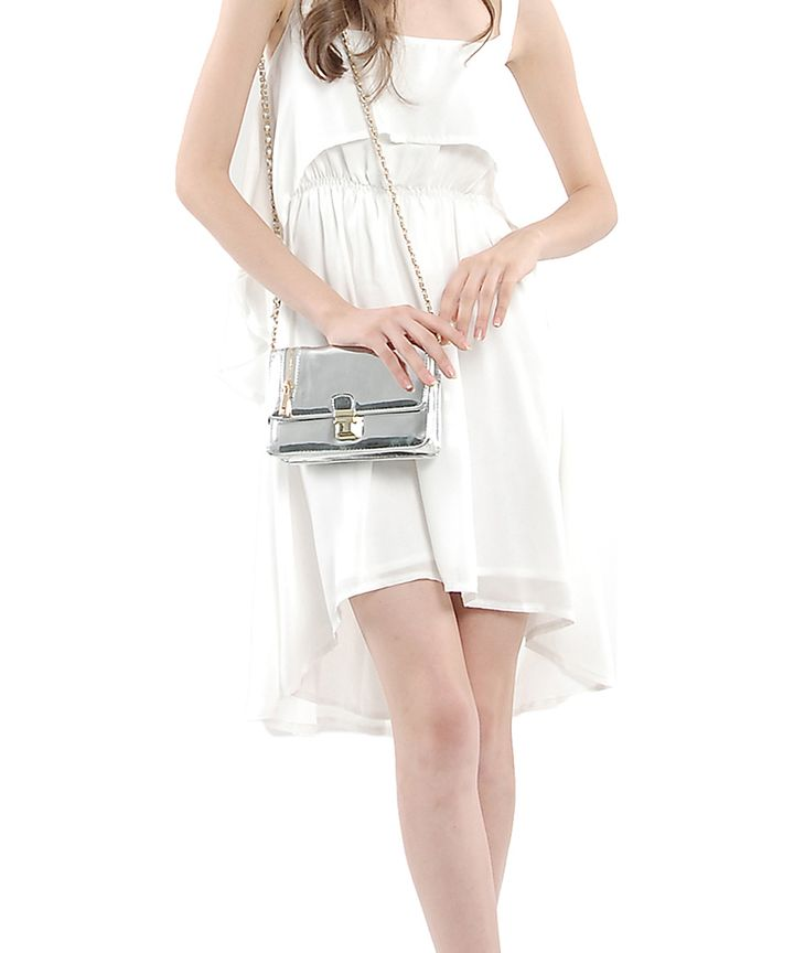 Cassis Cascade Dress