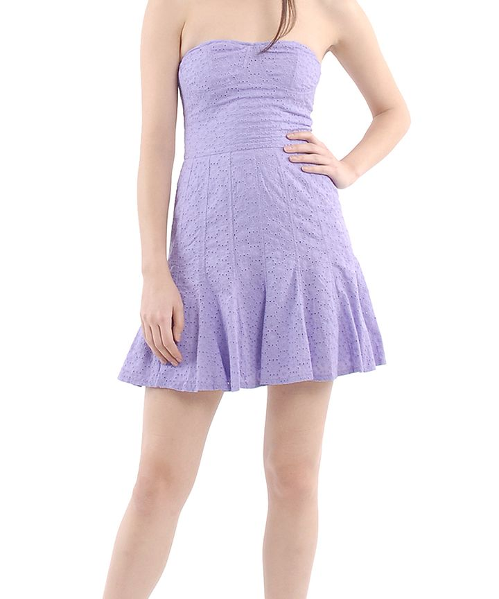 Delilah Eyelet Flounce Dress
