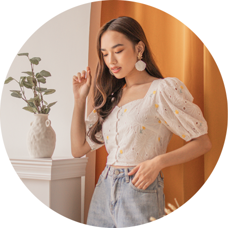 shop new tops at her velvet vase