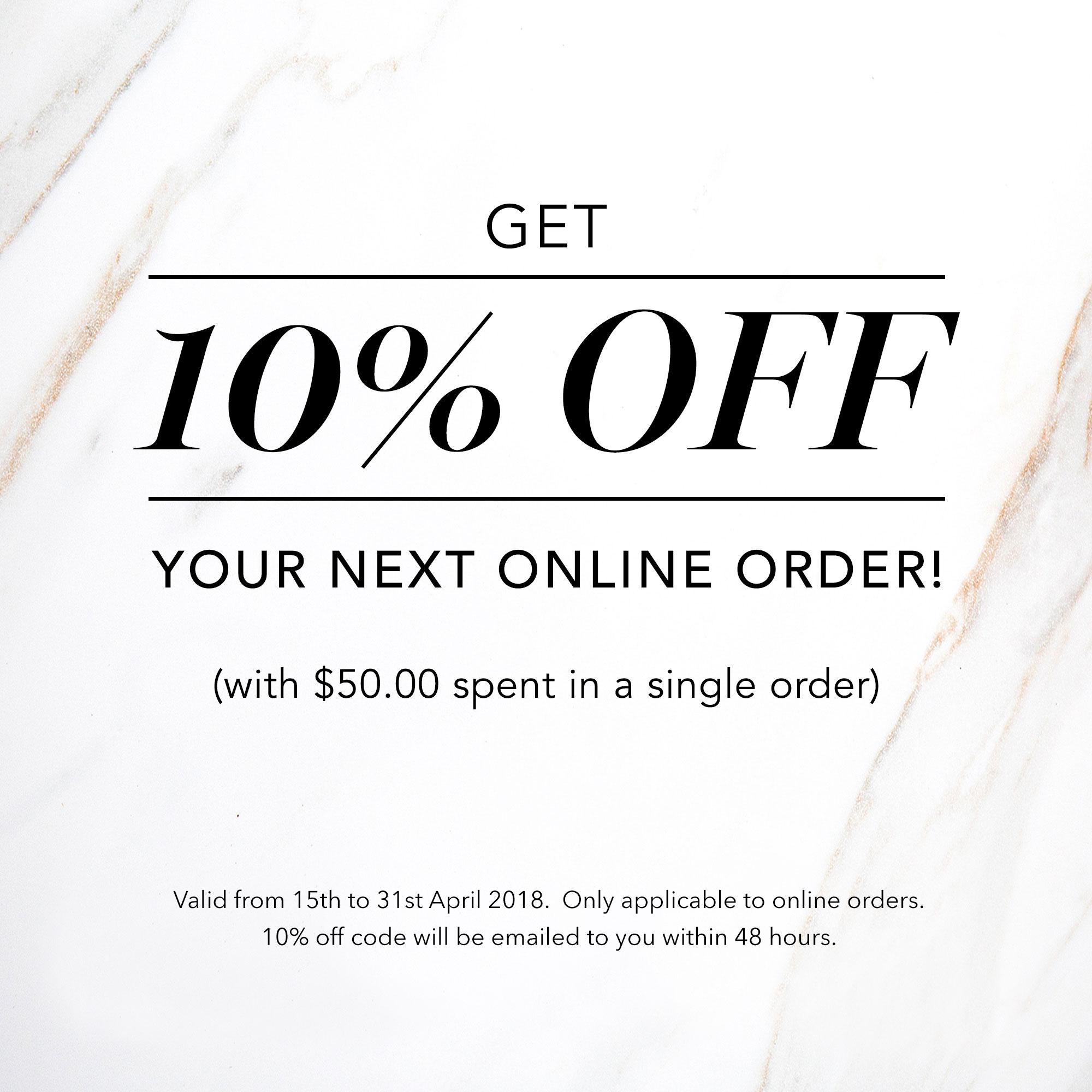 Get 10% off next order