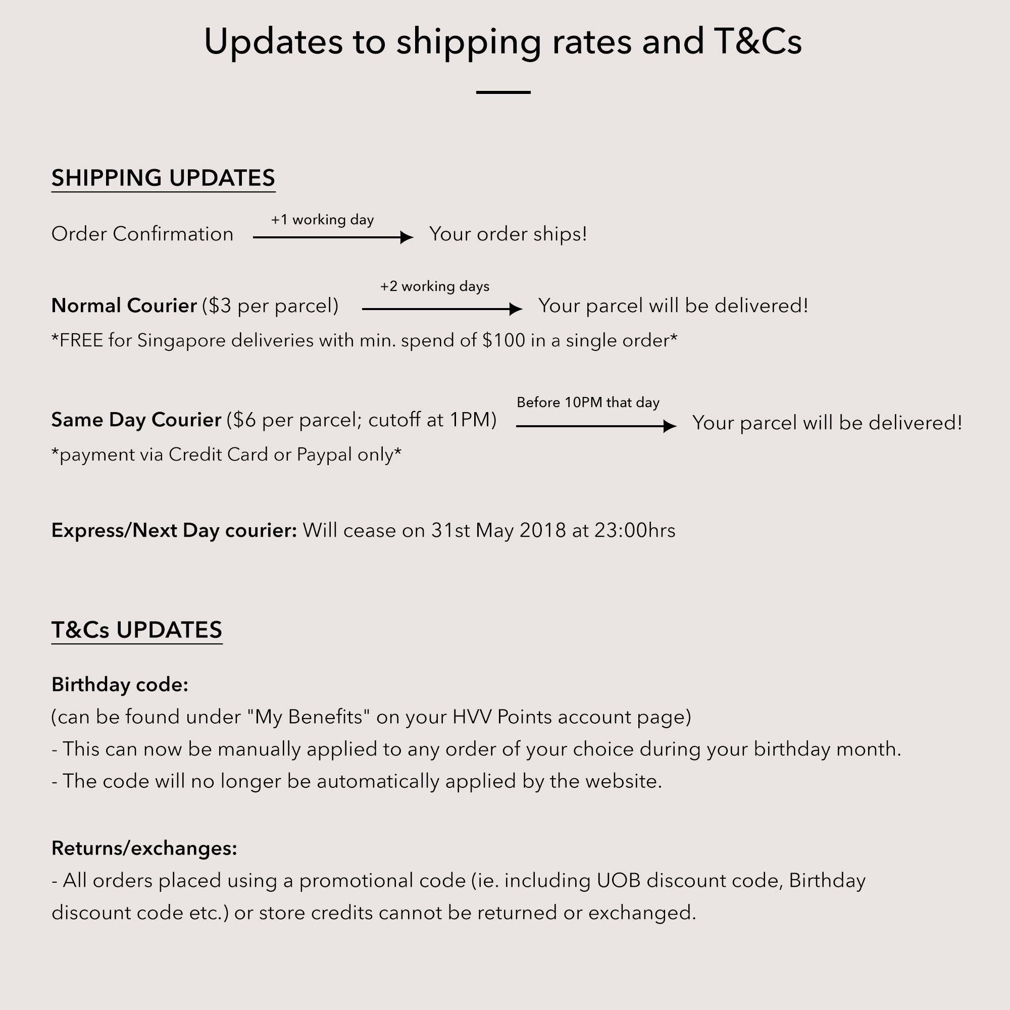 Shipping Rates Updated