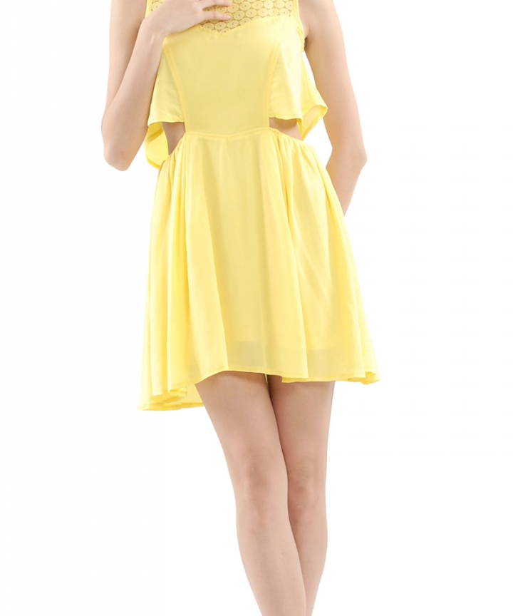 Tinkerbell Cut-Out Eyelet Dress