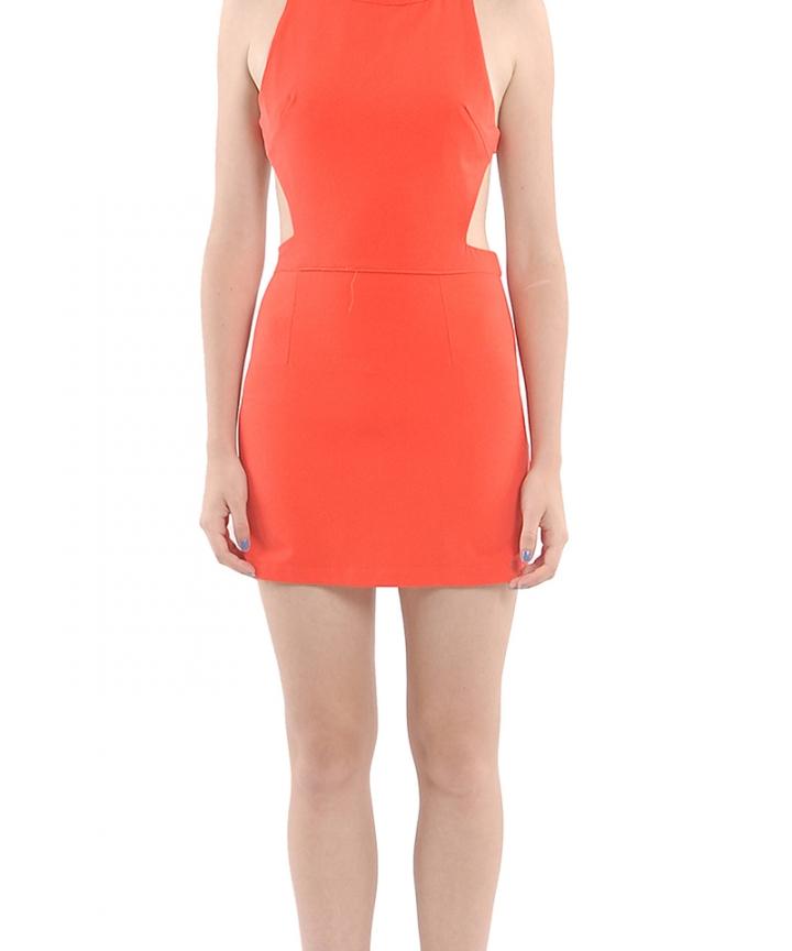 Rouge Cut-Out Dress