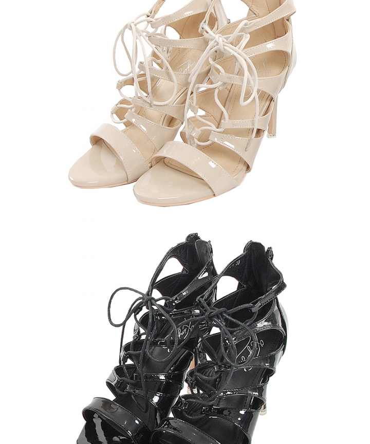 Silhouette Lace Up Heels