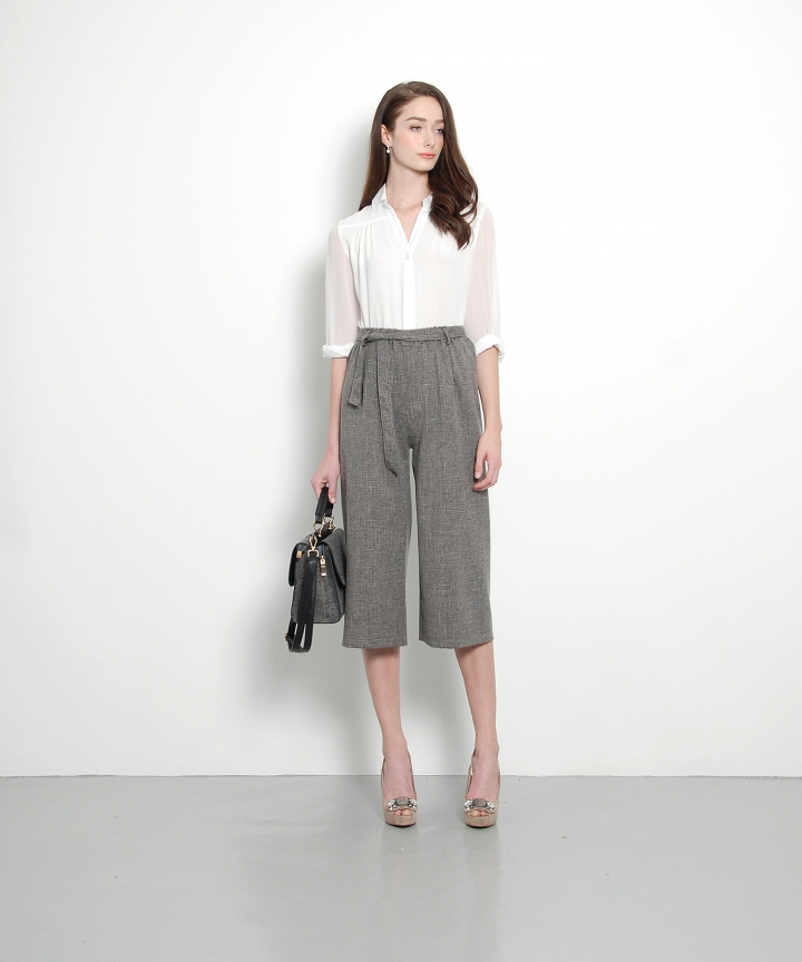 Saunders Textured Culottes