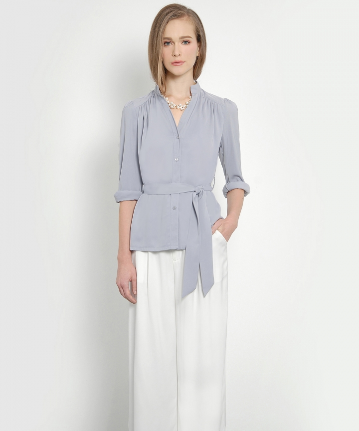 Luxe Blouse (Pearl Lilac)