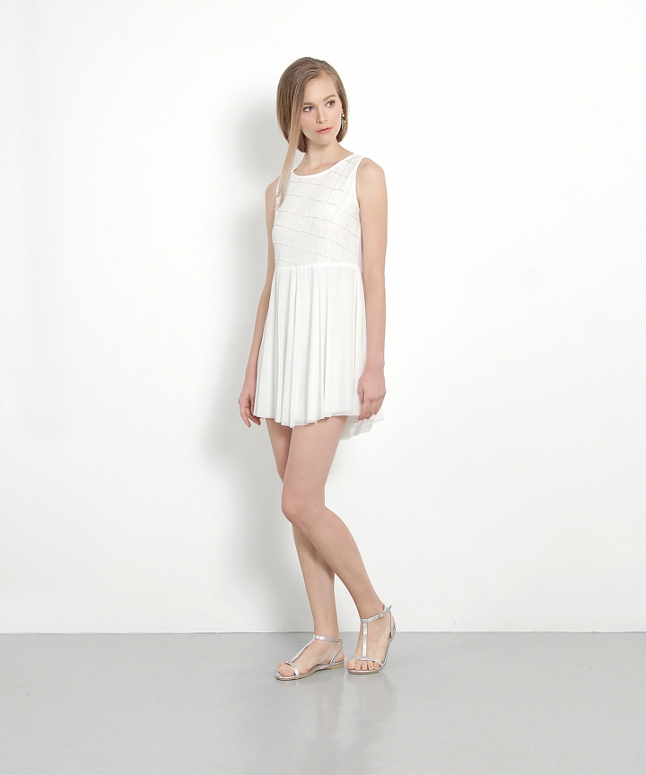 Poise Embellished Mini (White)