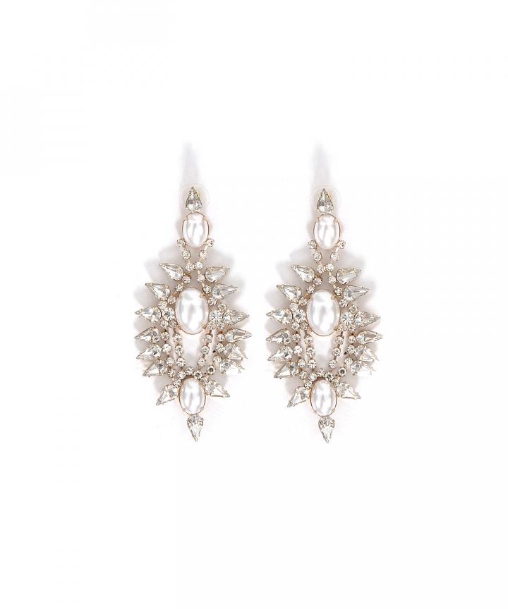 Caviar Embellished Earrings - Restock