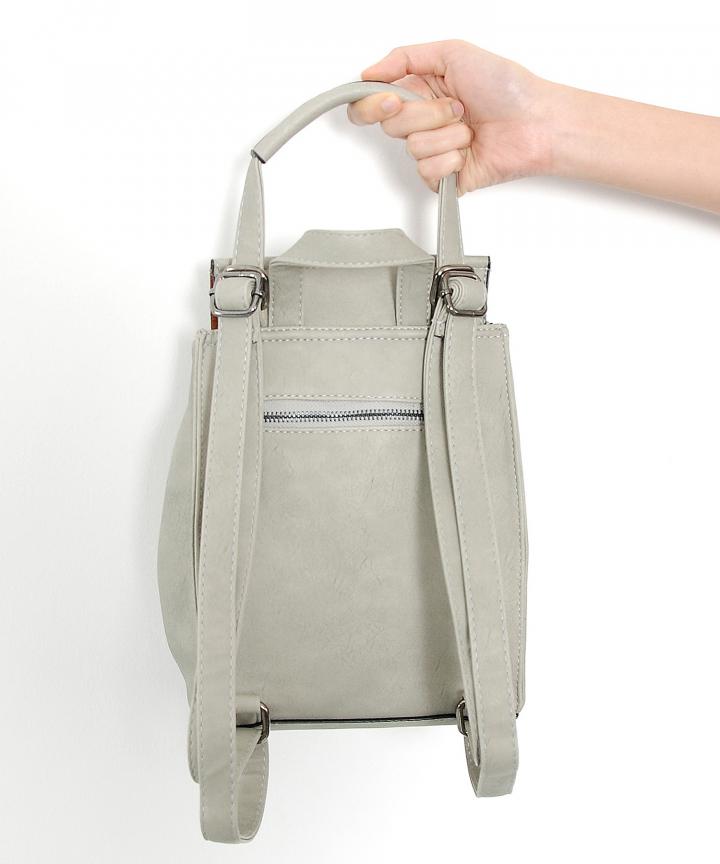 Sahara Woven Backpack (Grey)