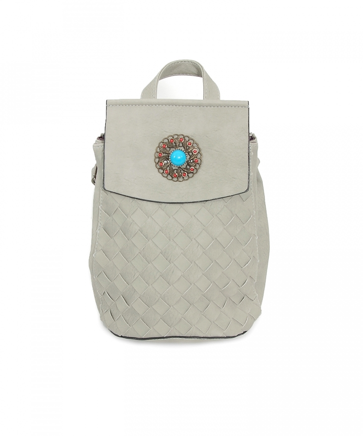 Sahara Woven Backpack (Grey)