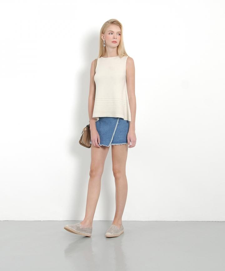 Dominique Denim Skirt (Dark Blue)