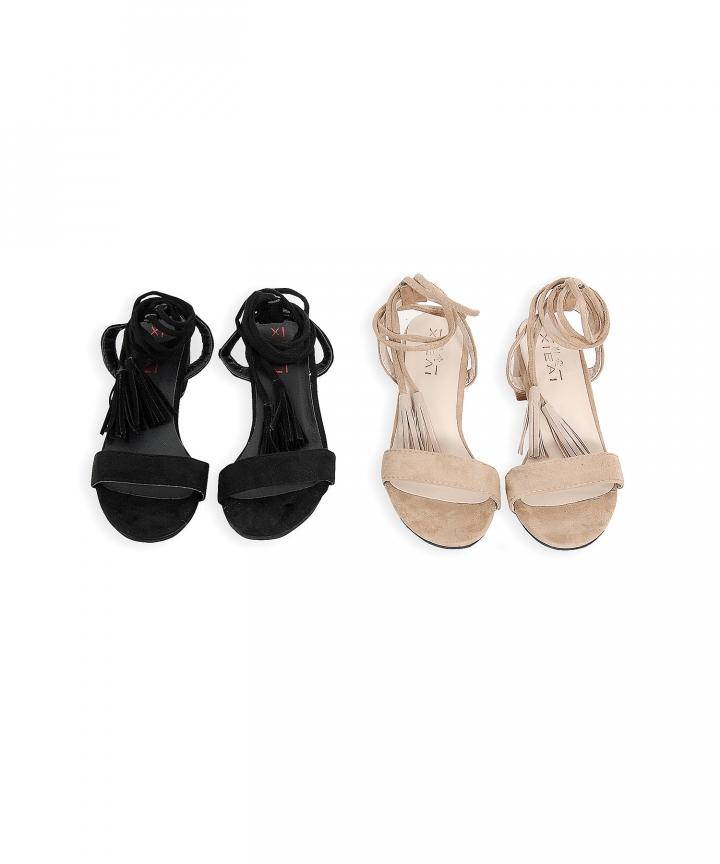 Praline Tassel Sandals