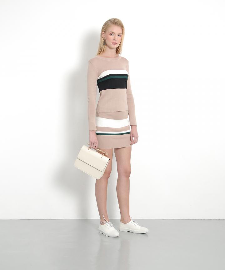 Ellery Striped Knit Set - Sand