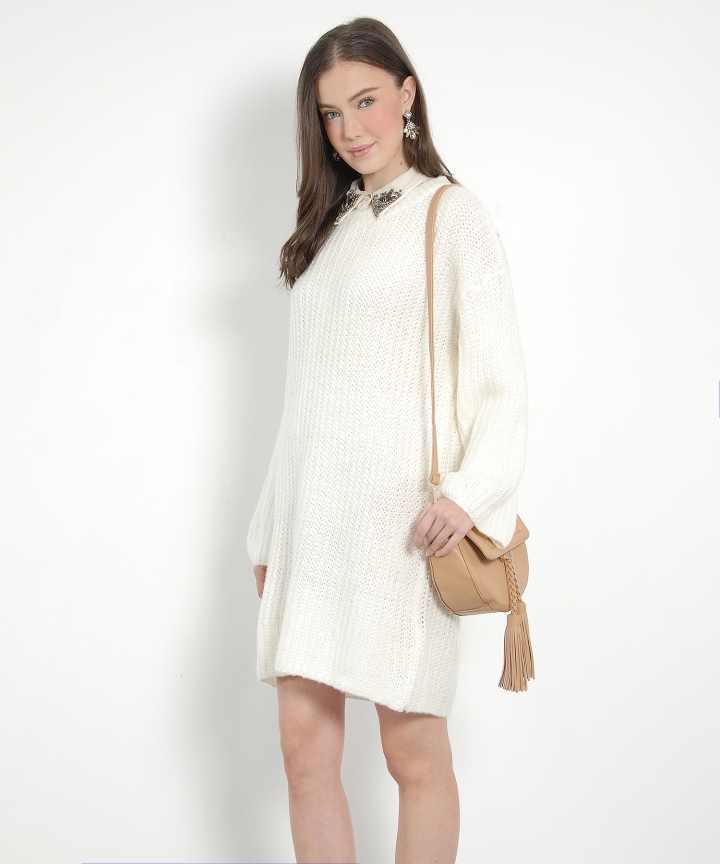 Saints Sweater Dress - Cream