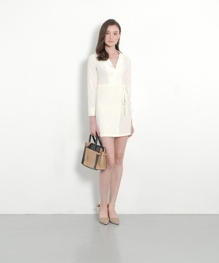 Maison Shift Dress - Vanilla