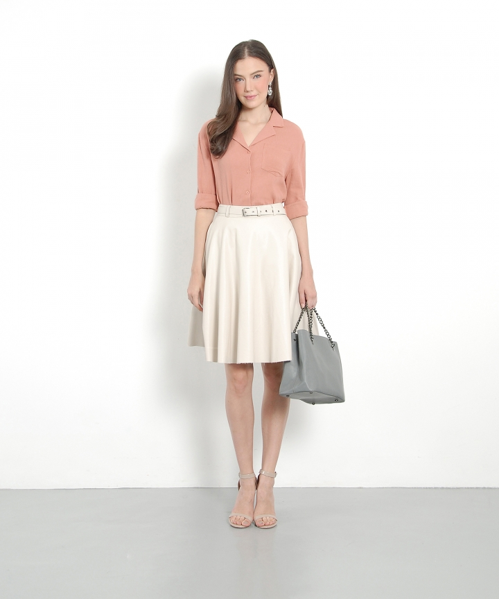 Monaco Pressed Blouse - Pink