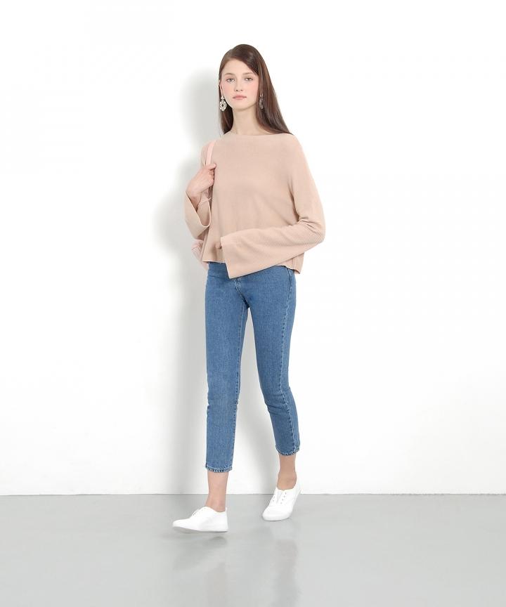 Twiggy Knit Sweater - Dust Pink