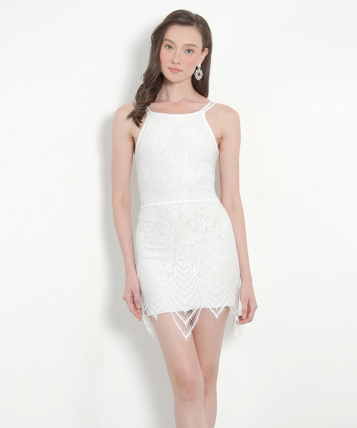 Valentine Lace Dress - White