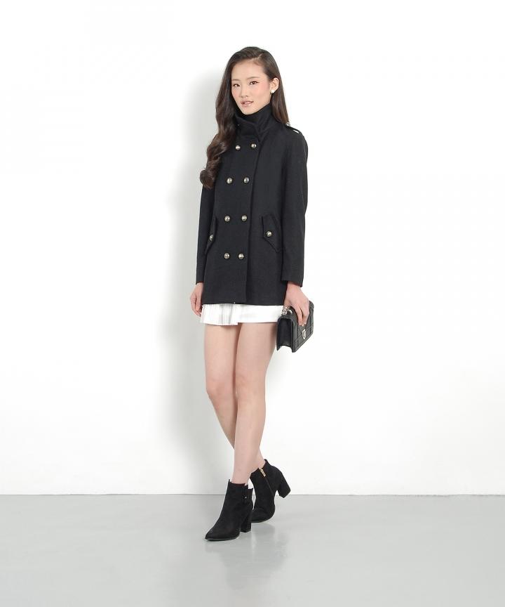 Knight Wool Coat - Black
