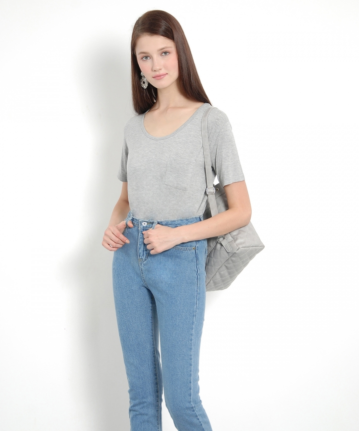 Dolce Slouchy Tee - Grey