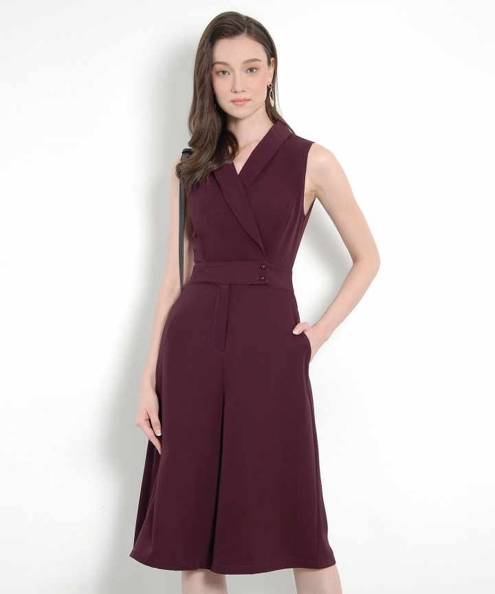 Refinery Classic Jumpsuit - Burgundy (Restock)