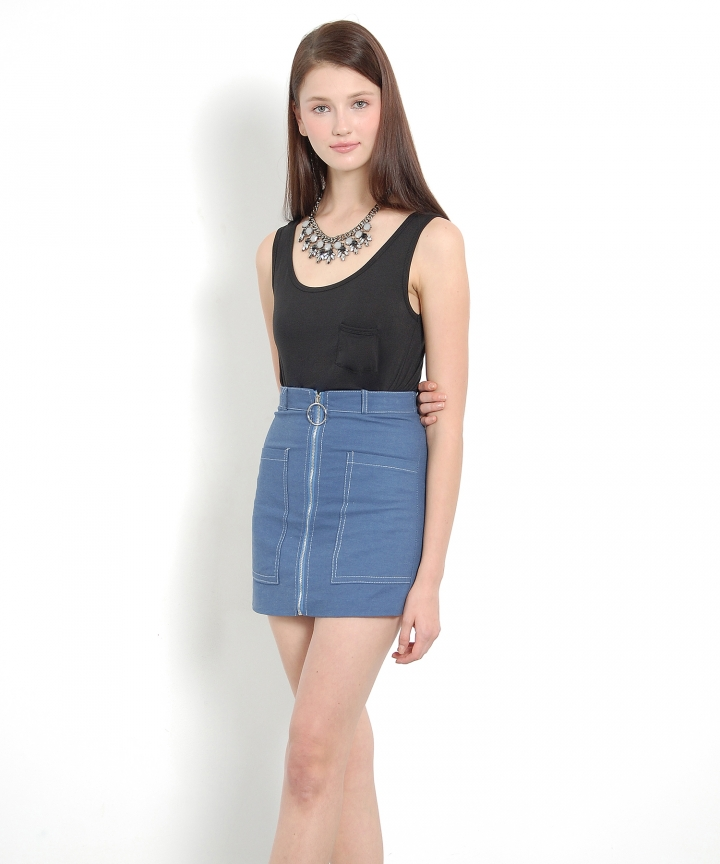 Bond Zip Skirt