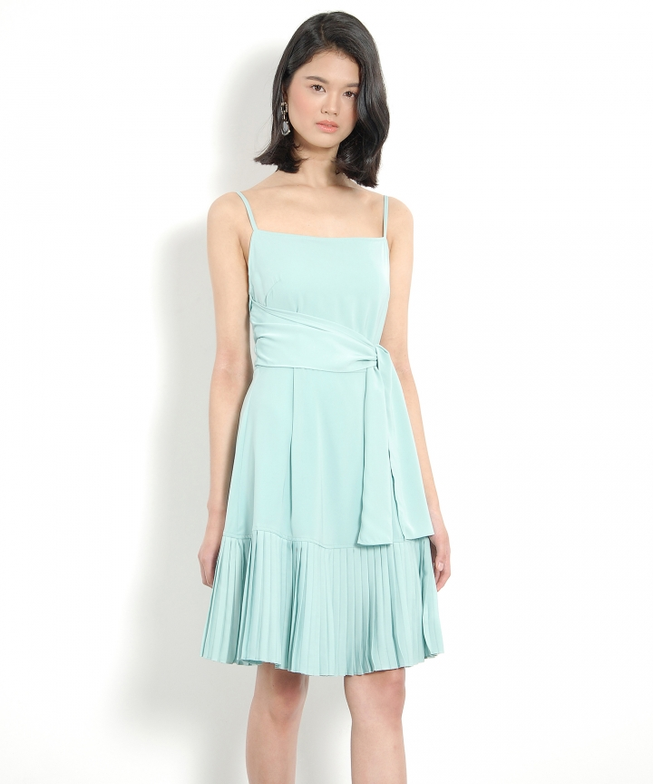 Lorelei Pleated Dress - Green