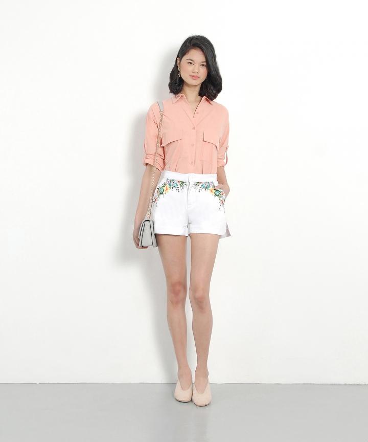 Savannah Button-Up Shirt - Pink