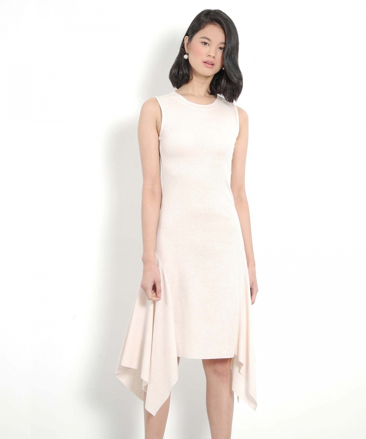 Champagne Drape Dress