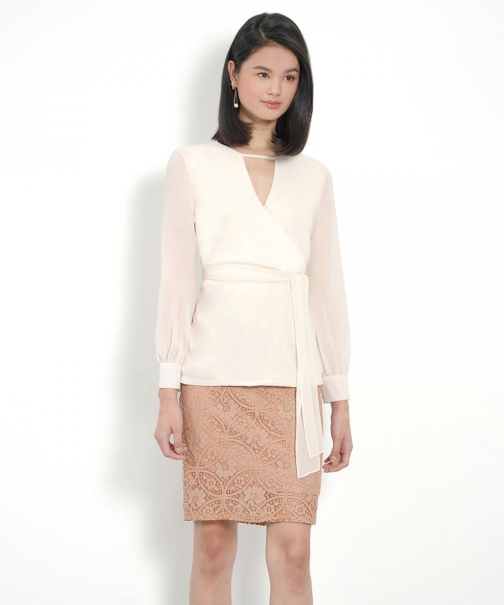 Gabrielle Lace Skirt - Terracotta