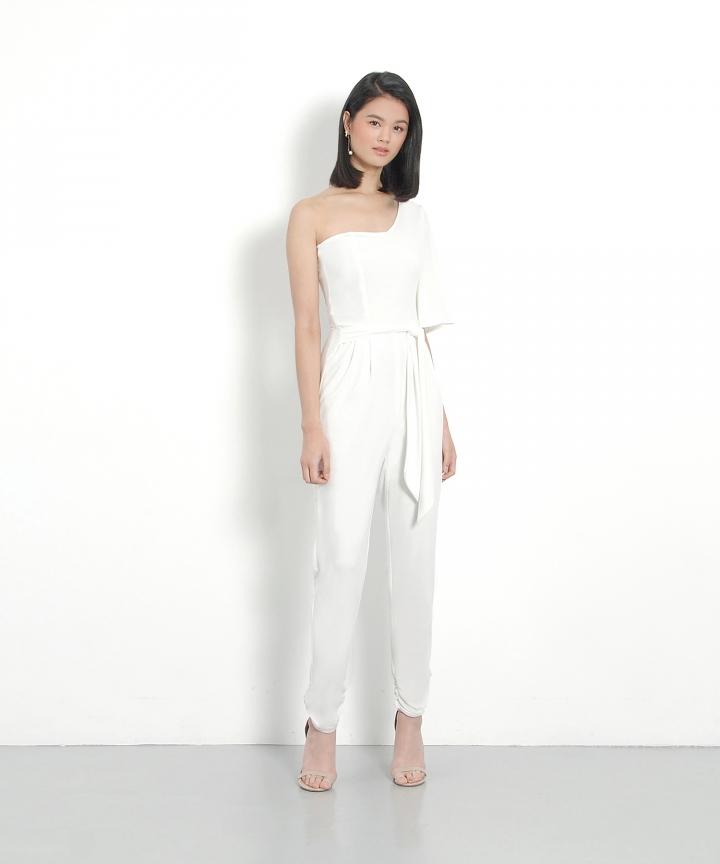 Octavia Toga Pantsuit - White
