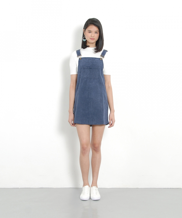 Canyon Corduroy Pinafore - Dust Blue