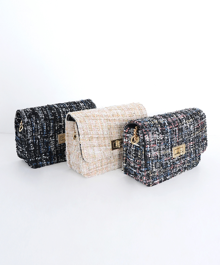Tweed Quilted Purse (Restock)