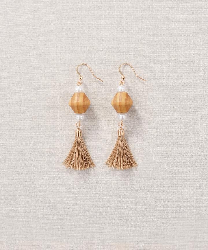 Hazelnut Tassel Earrings (Restock)