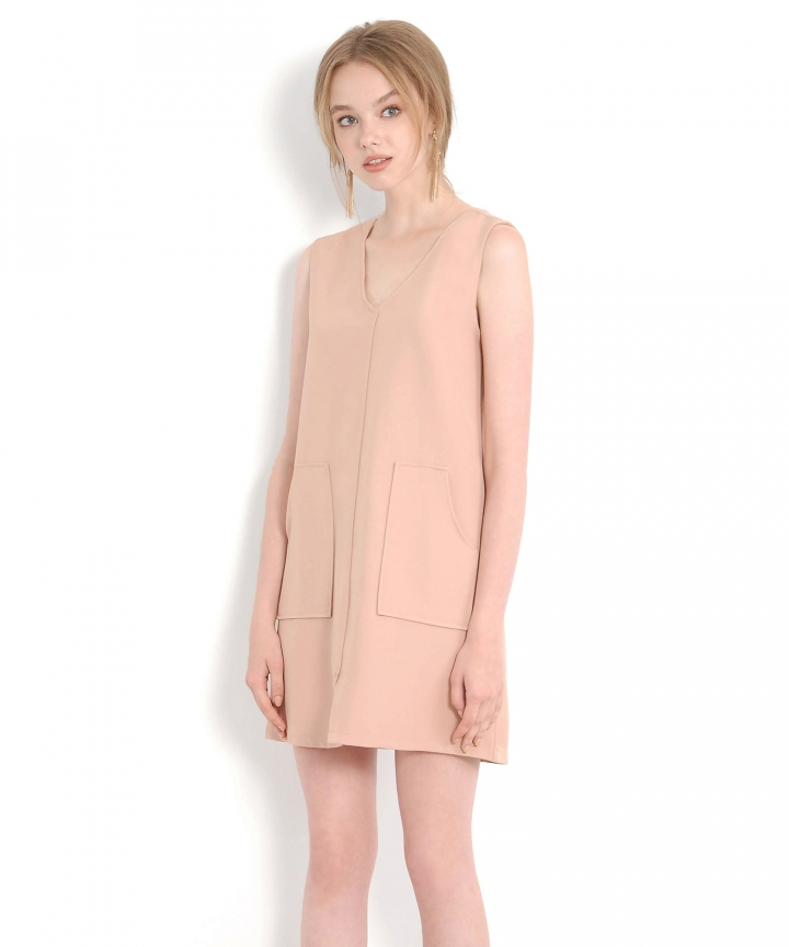 Melrose Shift Dress - Nude