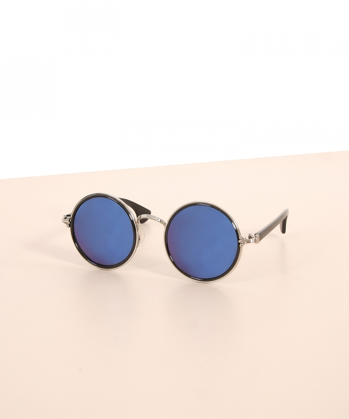 Dwight Round Sunglasses - Purple