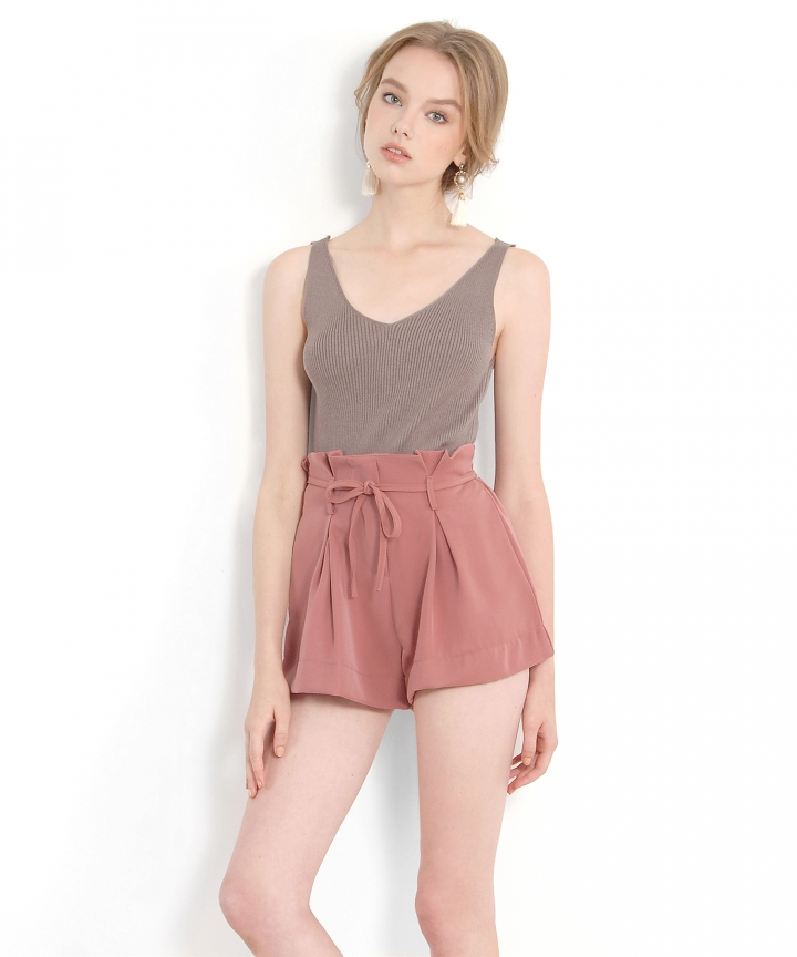 Beaumont Paperbag Shorts - Rose