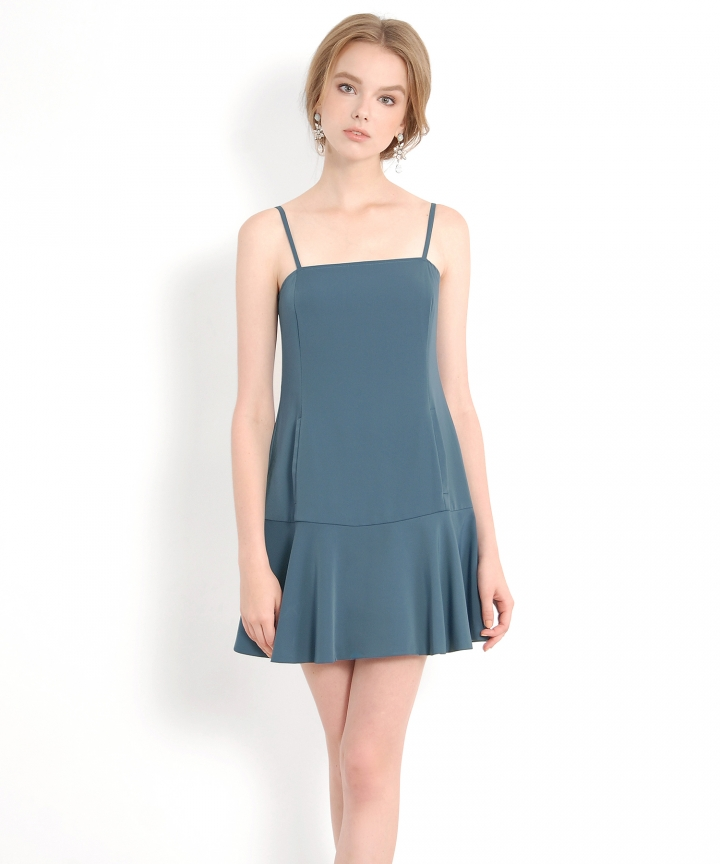 Signature Trumpet Dress - Teal