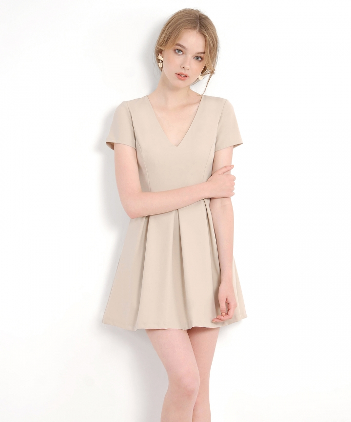 Carousel Dress - Pale Khaki