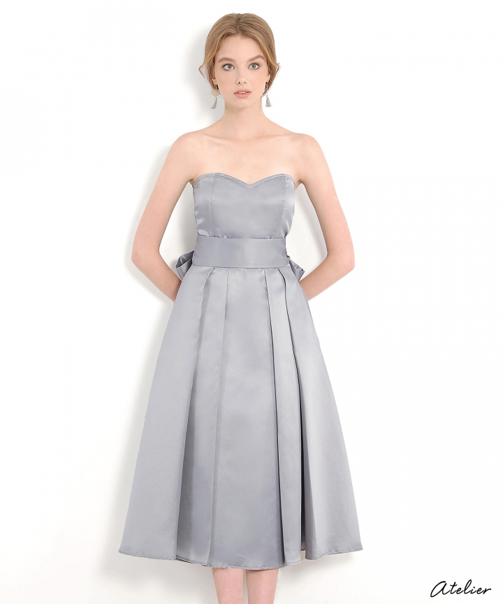 HVV Atelier Victoria Bustier Dress - Blue Grey