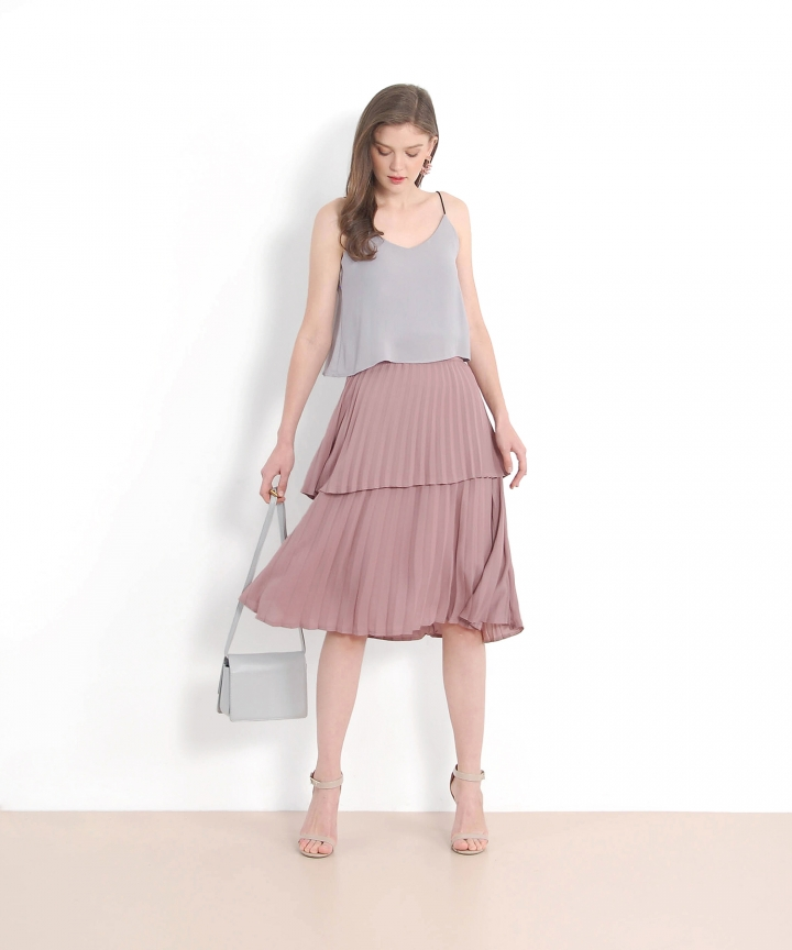Avedon Tiered Top - Grey (Backorder)