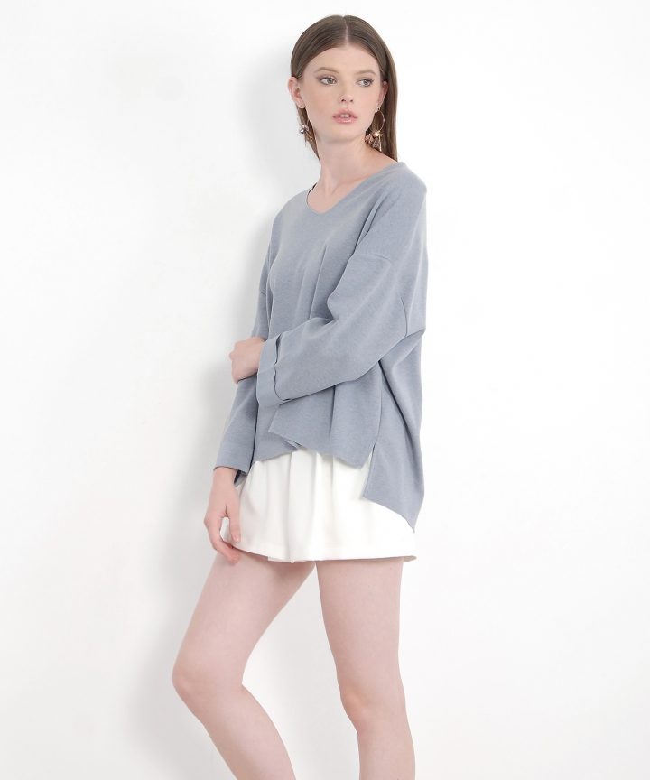 Montez Oversized Sweater - Pale Blue