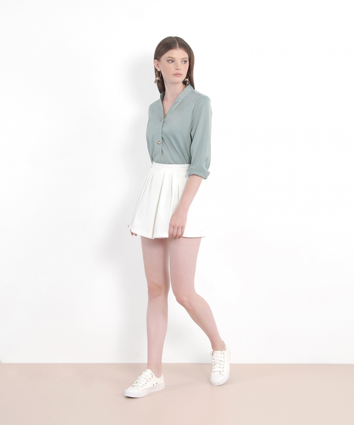 Ceres Pin Blouse - Jade
