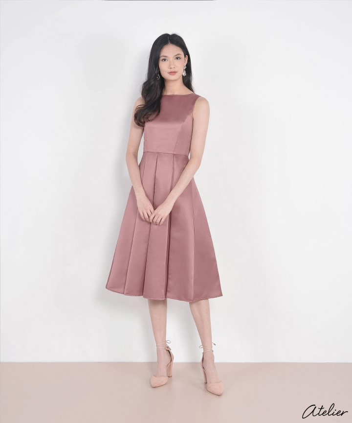HVV Atelier Aurora Dress - Mauve Pink