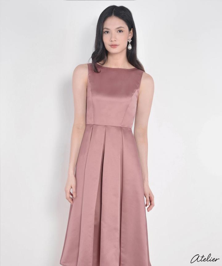 HVV Atelier Aurora Dress - Mauve Pink