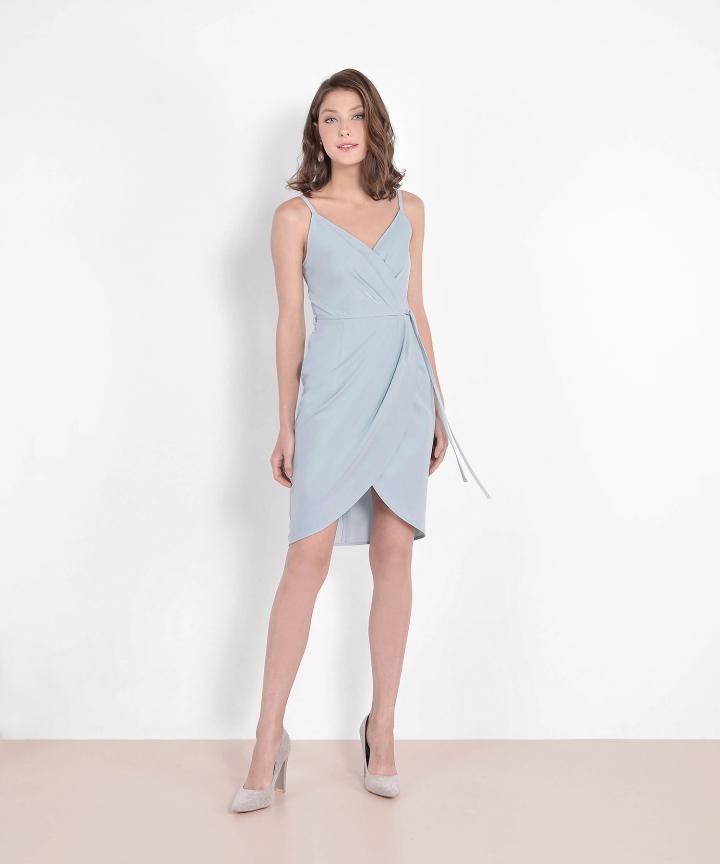 Lisbon Tulip Dress - Pale Blue (Restock)